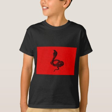 Halloween Themed Cobra on Red Animal Design T-Shirt