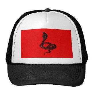 Cobra on Red Animal Design Trucker Hat