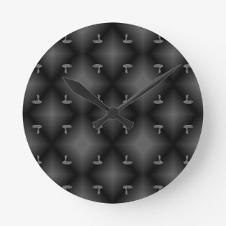 COBRA PATTERNED BLK.WHT. ROUND CLOCK