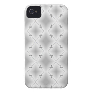 COBRA PATTERNED WHT.BLCK. iPhone 4 CASE