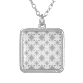 COBRA PATTERNED WHT.BLCK. SILVER PLATED NECKLACE