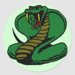 Cobra Pegatina Redonda