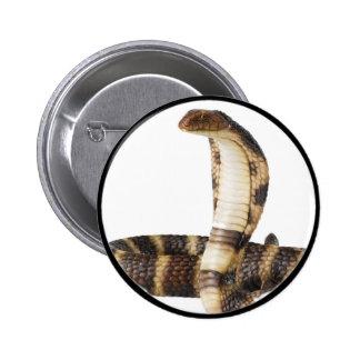 """Cobra real 1"" Pin Redondo 5 Cm"