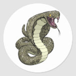 Cobra snake about to strike stickers