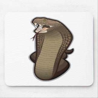 Cobra snake ready to strike mouse pads