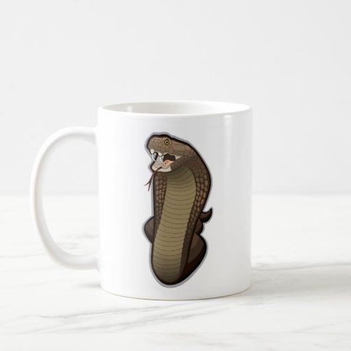Cobra snake ready to strike mug