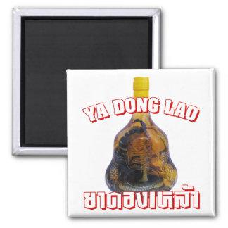 Cobra Snake Vs Scorpion Whiskey ... Yadong Lao 2 Inch Square Magnet