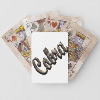 Cobra - threedimensional snake skin text - bicycle playing cards