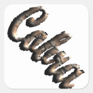 Cobra - threedimensional snake skin text - stickers