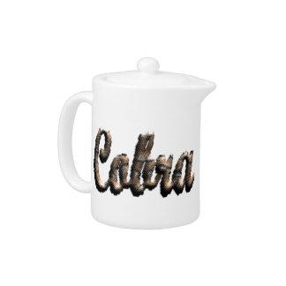 Cobra - threedimensional snake skin text - teapot