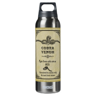 Cobra Venom Vintage Label Liberty Bottle 16 Oz Insulated SIGG Thermos Water Bottle