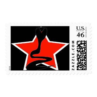 Cobra with Red Star postage stamp
