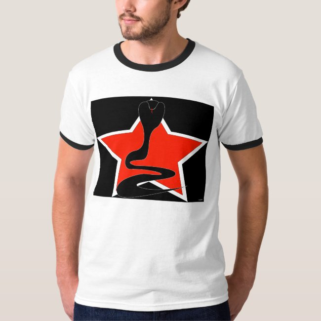 Cobra with Red Star Ringer T-shirt