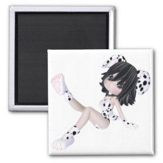 ♥ cobrable del arte de la muñeca del perrito del ♥ imanes para frigoríficos