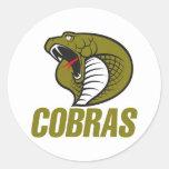 Cobras Pegatina Redonda
