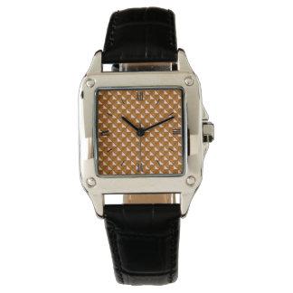cobre coloreado, mirada metálica, rejilla relojes