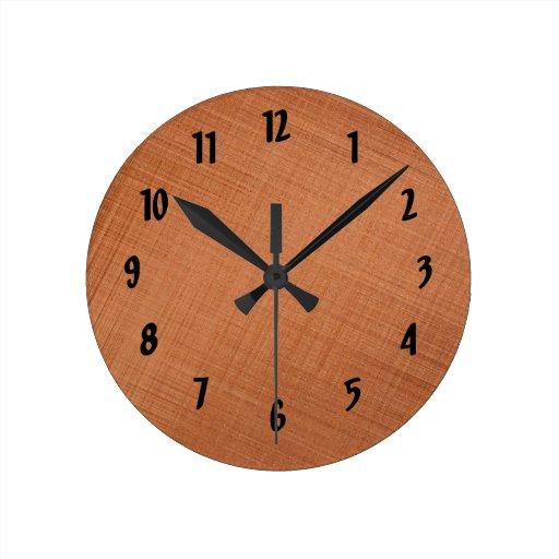 Cobre coloreado reloj de pared