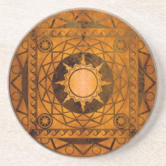 Cobre de la Atlántida de los artes en el bronce Posavasos Personalizados