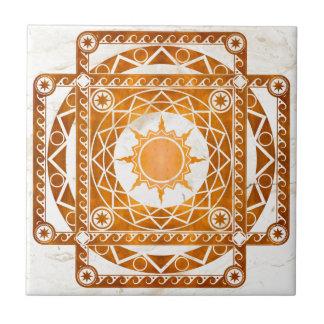Cobre de la Atlántida de los artes en el mármol bl Azulejo Cuadrado Pequeño