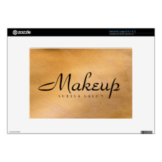 Cobre del artista de maquillaje metálico netbook grande calcomanía