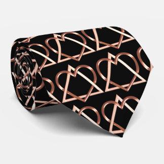 Cobre del corazón y del alma (corbata) corbatas