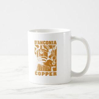 cobre del d Anconia logotipo de cobre Tazas De Café