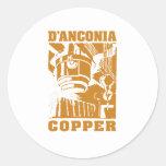 cobre del d'Anconia/logotipo de cobre Pegatinas Redondas