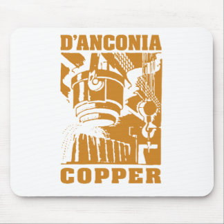 cobre del d'Anconia/logotipo de cobre Tapete De Ratón