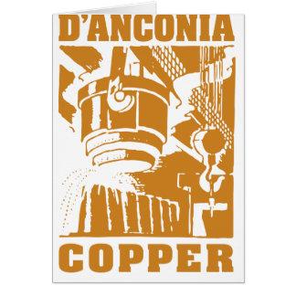 cobre del d'Anconia/logotipo de cobre Tarjeton