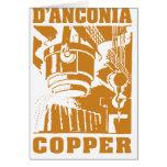 cobre del d'Anconia/logotipo de cobre Tarjeta De Felicitación