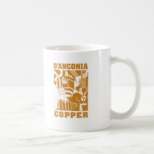 cobre del d'Anconia/logotipo de cobre Taza Básica Blanca