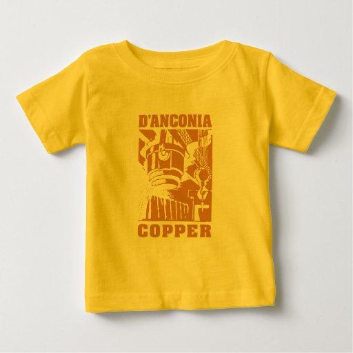 cobre del d'Anconia/logotipo de cobre Tshirt