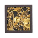 Cobre del oro y dientes de Brown, engranajes Caja De Recuerdo De Calidad