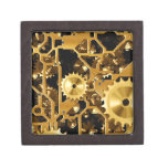 Cobre del oro y dientes de Brown, engranajes Cajas De Regalo De Calidad