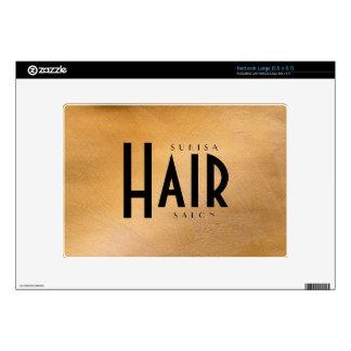 Cobre del salón de pelo metálico skins para netbook grande