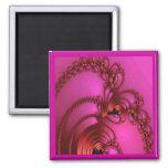 Cobre en rosa imán para frigorifico