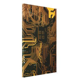 Cobre fresco y negro del ordenador de placa de cir impresiones en lienzo estiradas