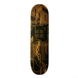 Cobre fresco y negro del ordenador de placa de cir patines personalizados