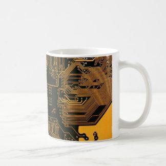 Cobre fresco y negro del ordenador de placa de cir tazas de café