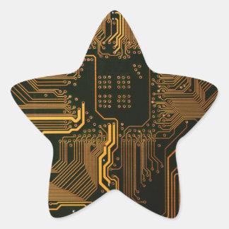 Cobre fresco y negro del ordenador de placa de pegatina en forma de estrella