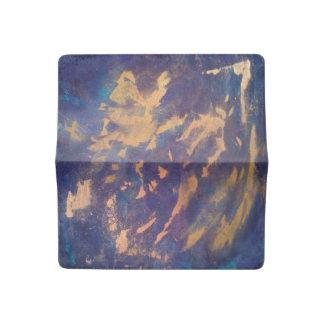 Cobre metálico del oro de la turquesa azul púrpura funda para chequera