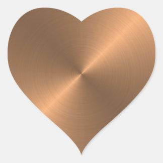Cobre Pegatina En Forma De Corazón