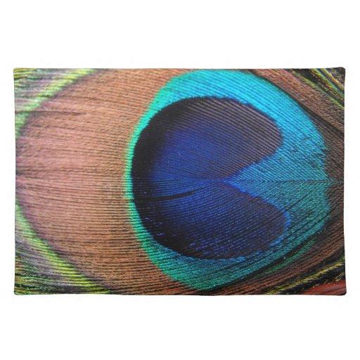 Cobre/trullo/pluma azul del pavo real mantel