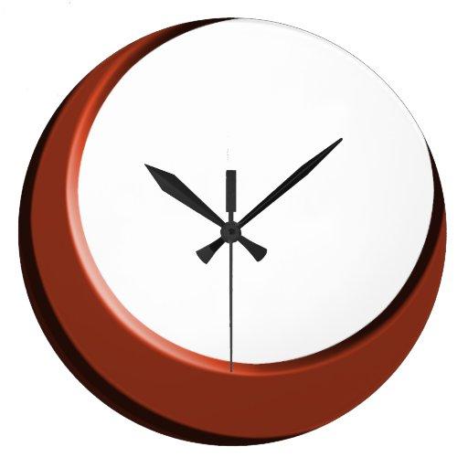 Cobre y reloj de pared moderno retro blanco de la