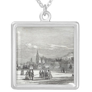 Coburg, engraved by W.J. Linton Silver Plated Necklace