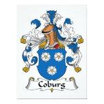 Coburg Family Crest Personalized Invitation