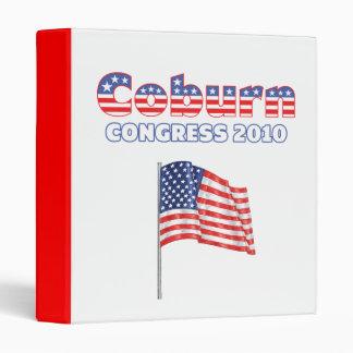 Coburn Patriotic American Flag 2010 Elections 3 Ring Binder