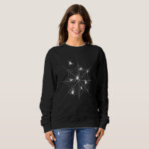 Cobweb and Spiders Black Women Sweatshirt