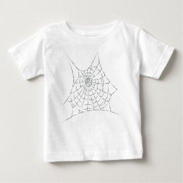 Halloween Themed Cobweb Baby T-Shirt