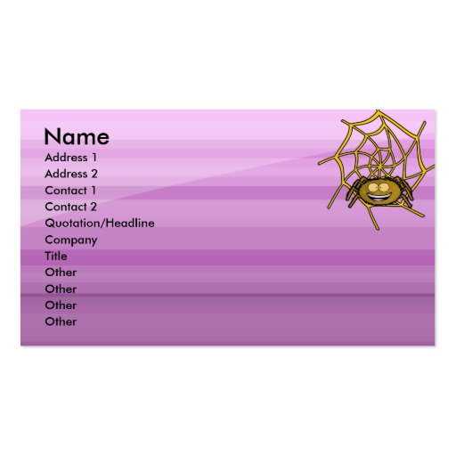 Cobweb Double-Sided Standard Business Cards (Pack Of 100)